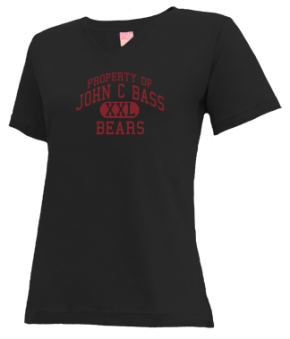 John C Bass Elementary School V-neck Shirts