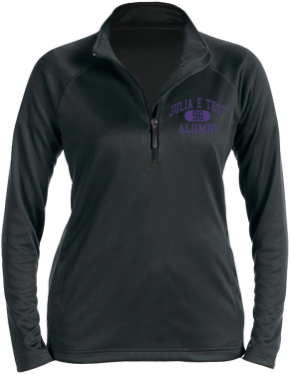 Julia E Test Middle School Stretch Tech-Shell Compass Quarter Zip