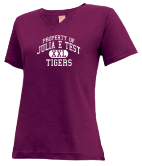 Julia E Test Middle School V-neck Shirts
