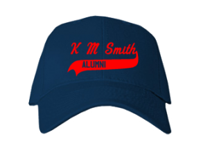 K M Smith Elementary School Embroidered Baseball Caps