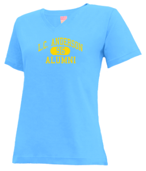 L.c. Anderson High School V-neck Shirts