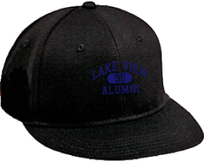 Lake View Elementary School Flat Visor Caps