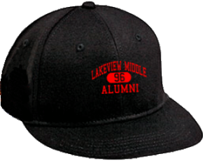 Lakeview Middle School Flat Visor Caps
