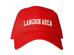 Langdon Area High School Kid Embroidered Baseball Caps