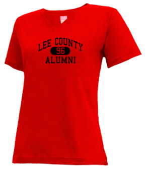 Lee County High School V-neck Shirts