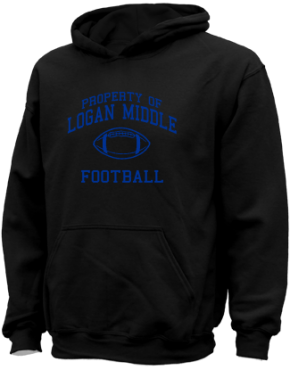 Logan Middle School Kid Hooded Sweatshirts