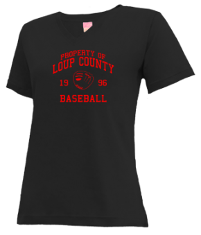 Loup County High School V-neck Shirts