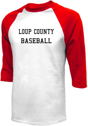Loup County High School Raglan Shirts