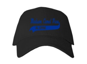 Madison Camel View School Embroidered Baseball Caps