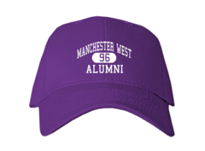 Manchester West High School Embroidered Baseball Caps