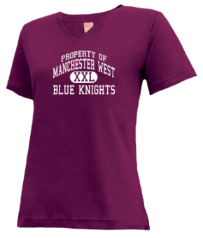 Manchester West High School V-neck Shirts