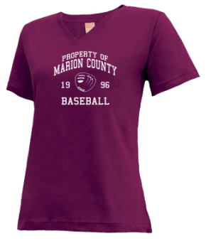 Marion County High School V-neck Shirts