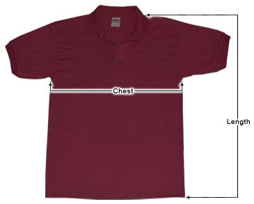 Men's Polo Shirt sizing guide