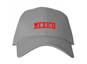 Mexico Middle School Kid Embroidered Baseball Caps