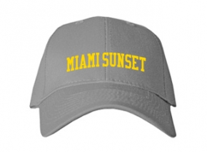 Miami Sunset High School Kid Embroidered Baseball Caps