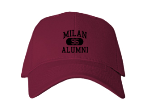 Milan High School Embroidered Baseball Caps