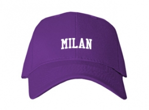 Milan High School Kid Embroidered Baseball Caps