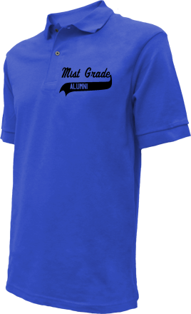 Mist Grade School Embroidered Polo Shirts