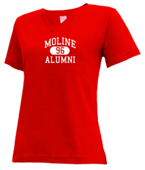 Moline High School V-neck Shirts