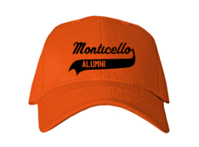 Monticello Elementary School Embroidered Baseball Caps