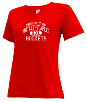 Motley-staples Middle School V-neck Shirts