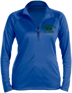Mountain View Middle School Stretch Tech-Shell Compass Quarter Zip