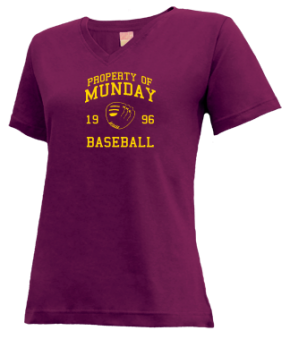 Munday High School V-neck Shirts
