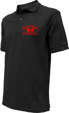 Mustang High School Embroidered Polo Shirts