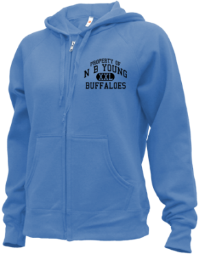 N B Young Middle Magnet School Zip-up Hoodies
