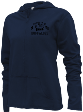 N B Young Middle Magnet School Girls Zipper Hoodies