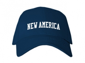 New America High School Kid Embroidered Baseball Caps