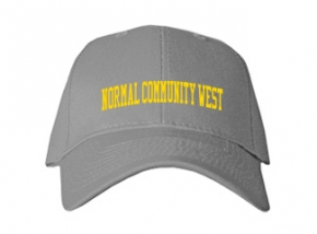 Normal Community West High School Kid Embroidered Baseball Caps