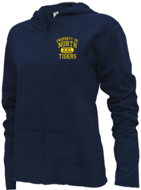 North Elementary School Girls Zipper Hoodies