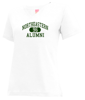 Northeastern High School V-neck Shirts