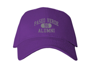 Paseo Verde Elementary School Embroidered Baseball Caps