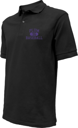 Plum High School Embroidered Polo Shirts
