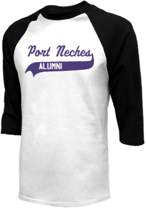 Port Neches Middle School Raglan Shirts