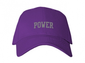 Power High School Kid Embroidered Baseball Caps
