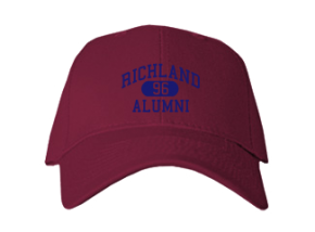 Richland High School Embroidered Baseball Caps