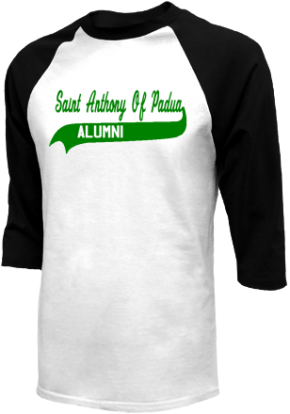 Saint Anthony Of Padua School Raglan Shirts