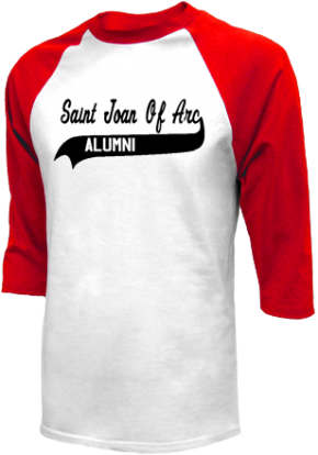 Saint Joan Of Arc School Raglan Shirts