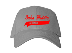 Saks Middle School Embroidered Baseball Caps