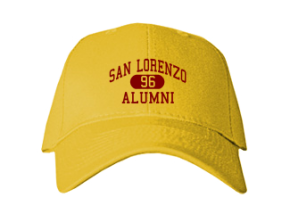 San Lorenzo High School Embroidered Baseball Caps