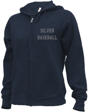 Silver High School Zip-up Hoodies