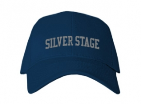 Silver Stage High School Kid Embroidered Baseball Caps