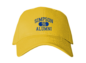 Simpson Middle School Embroidered Baseball Caps