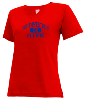 Southwestern High School V-neck Shirts