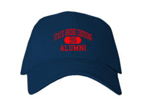 State Bridge Crossing Elementary School Embroidered Baseball Caps