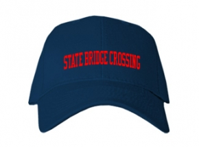 State Bridge Crossing Elementary School Kid Embroidered Baseball Caps