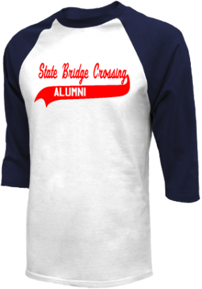 State Bridge Crossing Elementary School Raglan Shirts